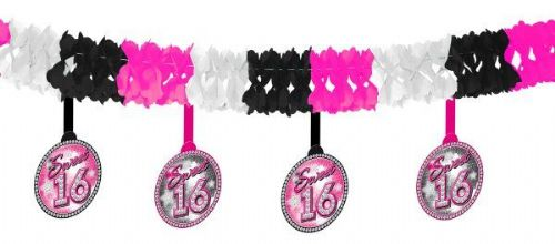 Sweet 16th Paper Garland With Deco